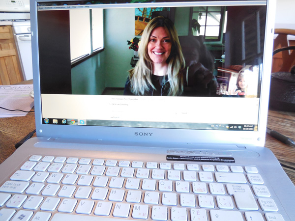 Lani Schonberg finds Skype works well for one-on-one coaching.