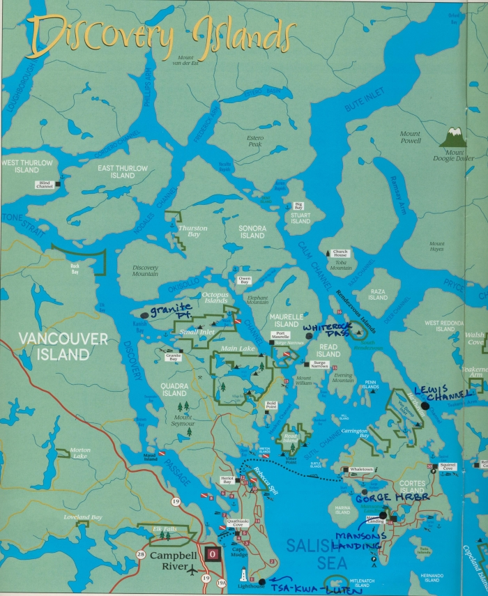 Map courtesy of the 2014 Discovery Islands guide, published by www.discoveryislands.ca.