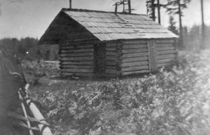 Quadra Island's log school house was on Heriot Bay Road, north of the Grouse Road junction. Museum at Campbell River #6912.