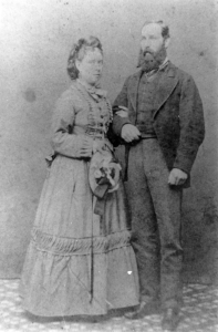 Reginald & Alice Pidcock of Vancouver Island, BC, c.1872. Courtesy Museum at Campbell River, 19383.